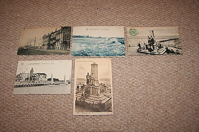 A collection of Blankenberghe postcards from the early 1900s.