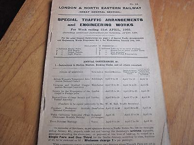 Lner Gcr Section Weekly Notice 21 April 1923