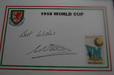 Wales 1958 World Cup Designed Card Signed Colin Baker
