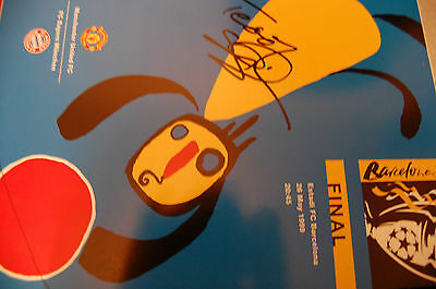 Man Und 1999 Champs League Win Signed Programme Teddy Sheringham Lovley Conditio