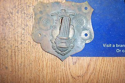Antique Brass Keyhole Hinged Cover, Civil War Era?