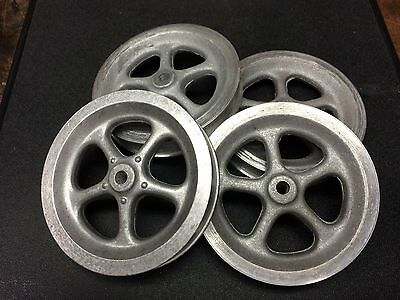 (4) Reproduction Aluminum BUDDY L SPOKED WHEELS 3 1/2 Diameter Custom Toy Builds