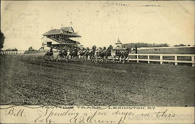 1907 Lexington KY Trotting Track,With Harness Race In Action Fayette County PC