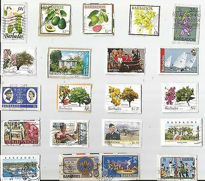 A  Fresh New Selection Of Kiloware Stamps From Barbados