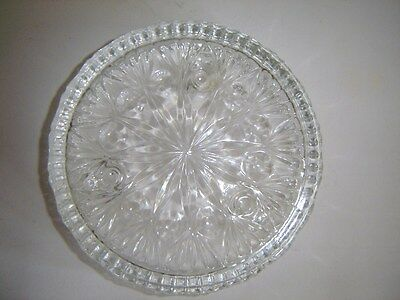 """Vintage Princess House Lead Crystal 3 Place Taper Candle Holder Fostoria 6"""" Dish"""