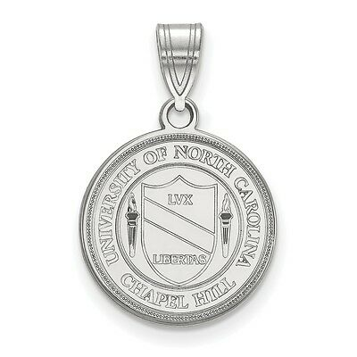 925 Sterling Silver Rhodium-plated Laser-cut Montana State University Large Crest Pendant