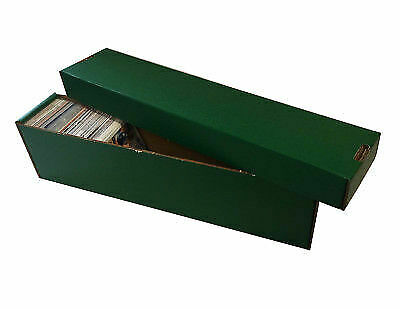 10 -  800ct 2pc Cardboard Vertical Baseball Trading Card Storage Boxes Max GREEN