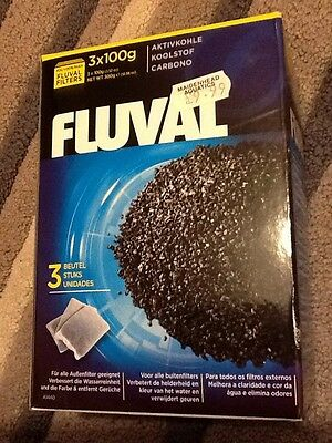 Fluval 3 X 100g Bags Of Filter Carbon. BNIB.