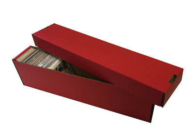 50 - 800ct 2pc Cardboard Vertical Baseball Trading Card Storage Boxes #802 RED