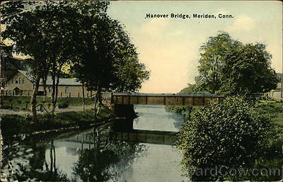 1917 Meriden CT Hanover Bridge New Haven County Connecticut Divided Back PC