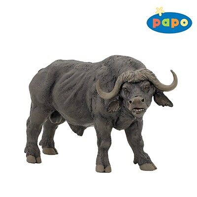 Papo African Buffalo Figurine - Figure Wild Animal Fantasy Action Figure