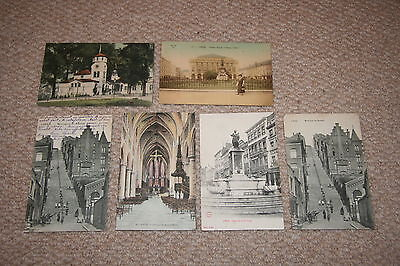 A collection of Liege postcards from the 1900s.
