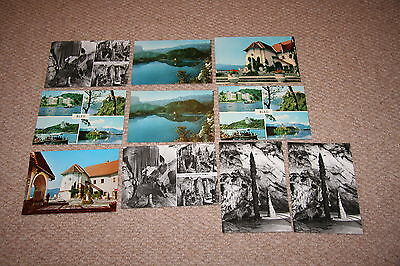 A collection of Slovenia postcards from the 1900s.