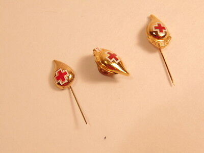 Group of 3 older Red Cross pins