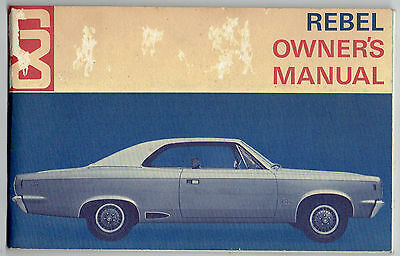 1968 American Motors Rebel Car Owner's Manual
