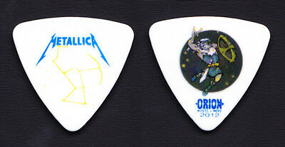 Metallica Robert Trujillo Orion Festival White Bass Guitar Pick 2012 Tour