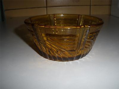Fantastic Small Patterned Amber Glass Dish