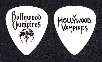 Hollywood Vampires Promotional White Guitar Pick - 2016 Alice Cooper Johnny Depp