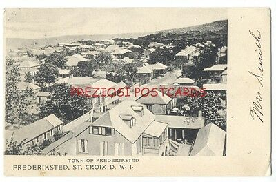 FREDERIKSTED, ST. CROIX - DWI Danish West Indies - 1911 Use