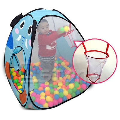 Foldable Children Kids Baby Ocean Ball Pit Pool Tent Play Toy Tent Playhouse
