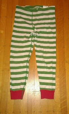 Hanna Andersson Red Green White Striped Pajama Pant Sz 110