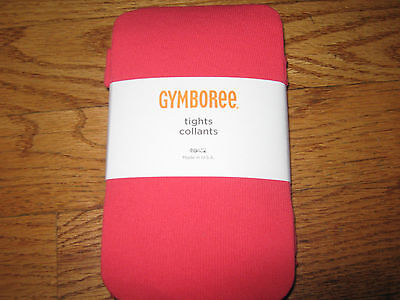 GYMBOREE NWT BRIGHTEST IN CLASS SOLID RED TIGHTS 5 6 7 girls new
