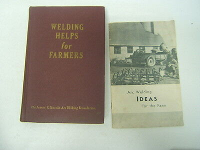 Vintage Lot of 2 Welding Helps for Farmers & Arc Welding Ideas for the Farm 1950
