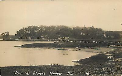 RPPC  CUNDYS HARBOR, Maine  ME   View  ca 1910s  Real Photo  Postcard