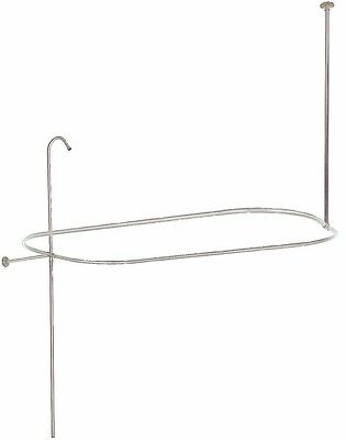 "57"" x 31"" Rectangle Oval Shower Rod Ring Riser with Enclosure Nickel Finish"