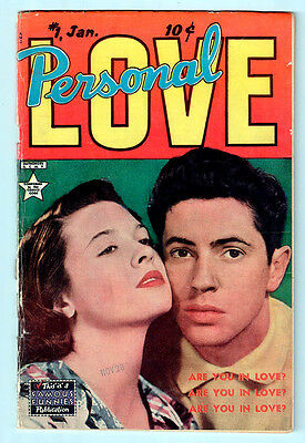PERSONAL LOVE # 1 FN- condition 1950 Famous Funnies comic - PHOTO cover