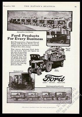 1924 Ford Model T truck delivery wagon Fordson tractor 5 photo vintage print ad