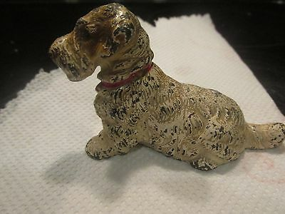 3 1/2 inch hubley cast iron terrier paperweight