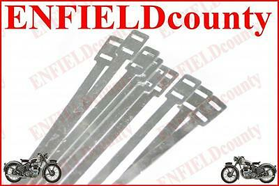 LAMBRETTA VESPA WIRING /CABLE LOOM HOLDING ALUMINIUM STRIPS STRAPS TIES x10 @CAD