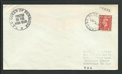 Great Britain - Paquet Burmuda Cover To Usa - 1 Stamp - Z696