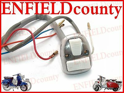 New Lambretta Alloy Polished Light + Horn Switch With White Buttons  @cad