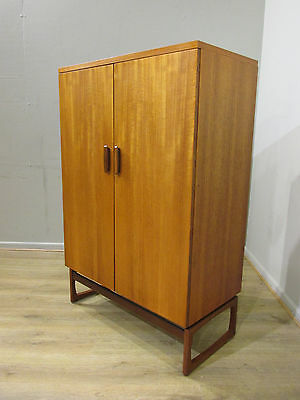 60's VINTAGE RETRO QUADRILLE G PLAN DANISH STYLE TEAK TWO DOOR WARDROBE