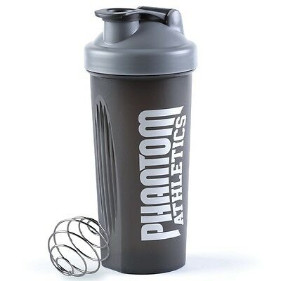 "Phantom Athletics Shaker ""Team"" Black. Protein, Weight Gainer Mixer. Fitness,BJJ"