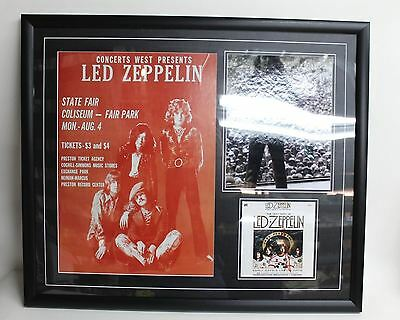 LED ZEPPELIN Signed Autographed Framed Photo, Poster & CD Cover 1 Signature