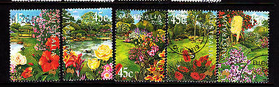 2000 Australian Gardens - Complete Set of Used Stamps