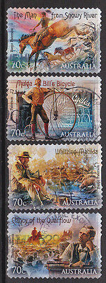 2014 Bush Ballads - Complete Set of Used Booklet Stamps
