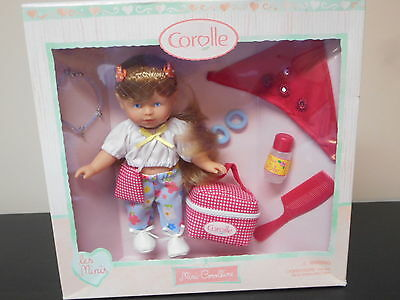 "Corolle les minis 8"" Mini-Corolline all vinyl Doll &Accessories Mint in Gift Box"
