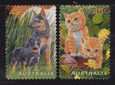 1996 Pets - Complete Set of Used Booklet Stamps