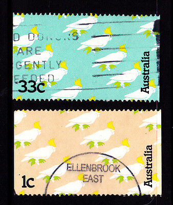 1985 Sulphur Crested Cockatoo - Set of Used Stamps