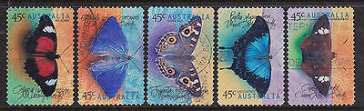 1998 Butterflies - Complete Set of  Used Booklet Stamps