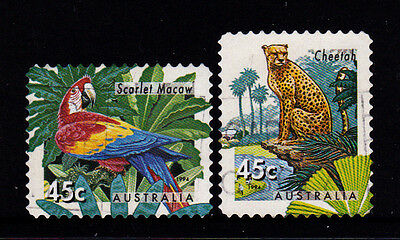 1994 ZOO's Endangered Species - Complete Set of Used Booklet Stamps