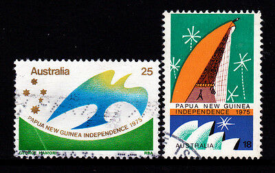 1975 Papua New Guinea Independence - Complete Set of Used Stamps