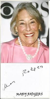 Mary Rodgers (1931-2014) - American Composer - Freaky Friday - Autograph + Photo