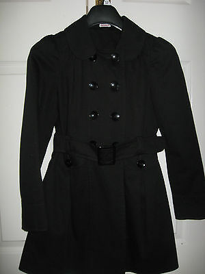 New Girls Clothes Black School Uniform Coat Fashion Double Breasted 15-16 Years