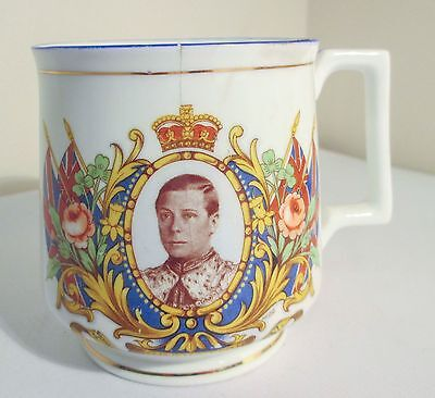 KING EDWARD VIII CORONATION CUP mug 1937 Sutherland bone china