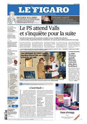 Le Figaro 05.12.2016 N°22494*PS//VALLS*AIRBUS*CASTRO*GOTLIB*AUTRICHE*RUGBY*TRUMP